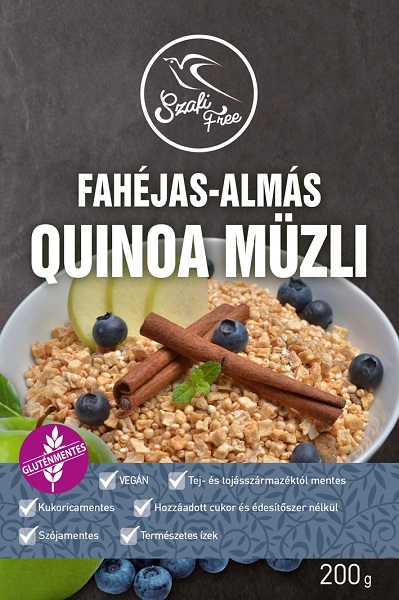 Szafi Free Apple-Cinnamon Quinoa muesli, 200gr