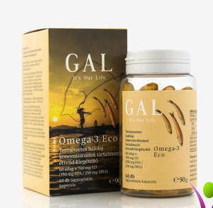 GAL Omega-3 Eco, Natural fish oil concentrate (60 doses)