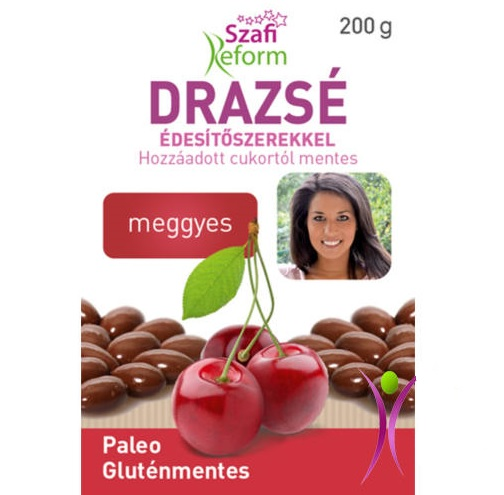Szafi Reform Chocolate coated Sour Cherry dragee 200g
