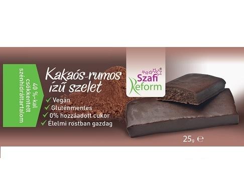 Szafi Reform Low Carb, GF, Vegan Chocolate bar, Cocoa-Rum