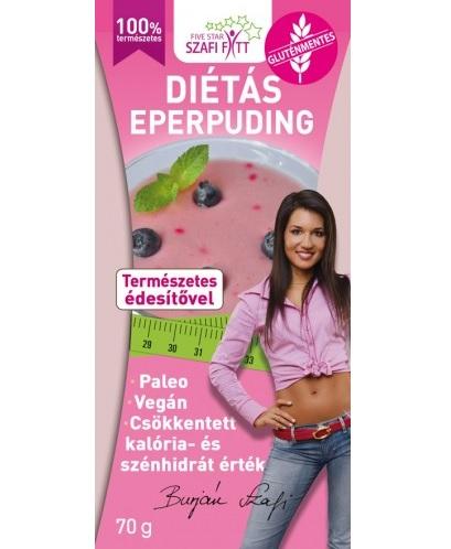 Szafi Reform diabetic, gluten-free strawberry pudding powder 70gr (paleo, vegan)