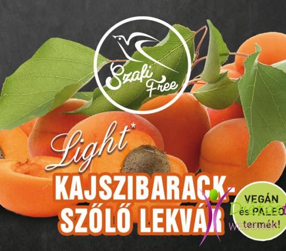 Szafi Free Jam, Apricot-grapes 350gr