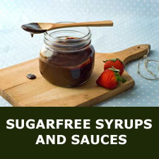 Sugarfree syrups and sauces