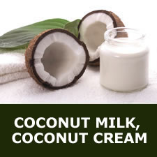 Coconut milk, coconut cream