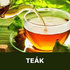 Teák, gyógynövények