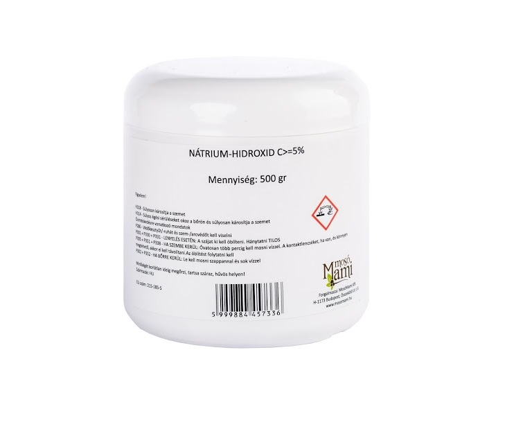 Sodium hydroxide, caustic soda (lye) 500 gr