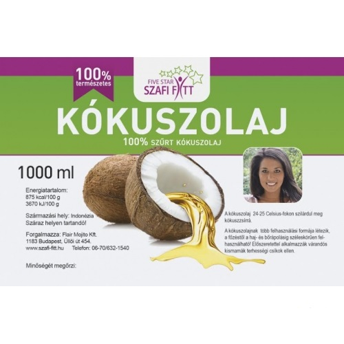 Szafi Reform 100% Coconut Oil, non-hydrogenated 1000ml