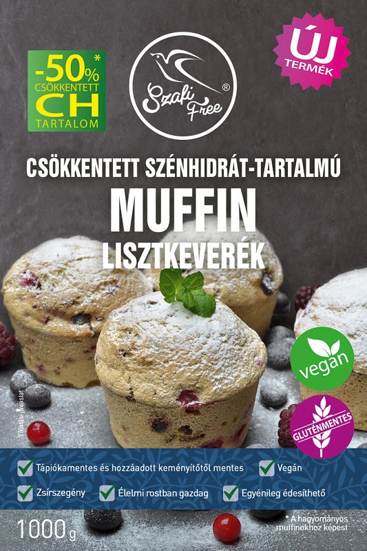 Szafi Free Low-carb, Glutenfree, Vegan Muffin, Sponge Cake Flour mix 1kg