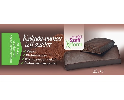 Szafi Reform Low Carb, GF, Vegan Chocolate bar, Cocoa-Rum