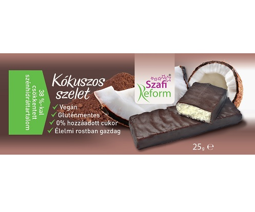 Szafi Reform Low Carb, GF, Vegan Chocolate bar, Coconut