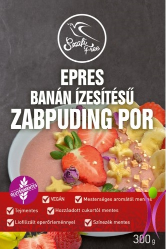 Szafi Free Strawberry-Banana Oat Pudding 300gr