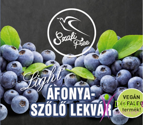 Szafi Free Jam, Blueberries-grapes 350gr